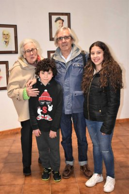 Con el pintor Paco Ascón y Carmen