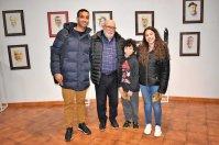 Con el artista Martínez Coello