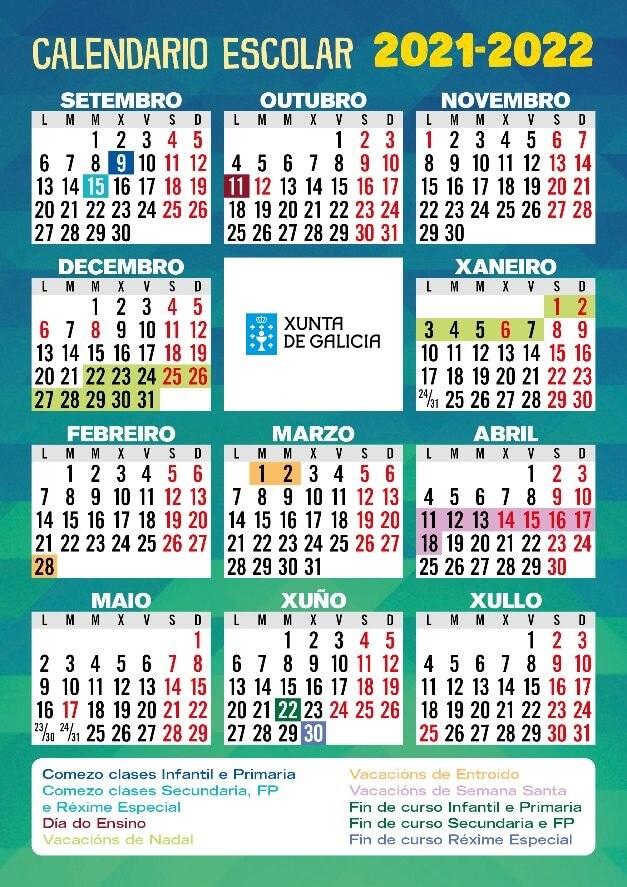 calendario-escolar-galicia-2021-2022